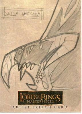 Lord of Rings Masterpieces Sketch Card by Dalla Vecchia  Balrog