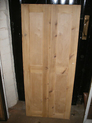 Pairs of reclaimed stripped pine, alcove / cupboard doors.