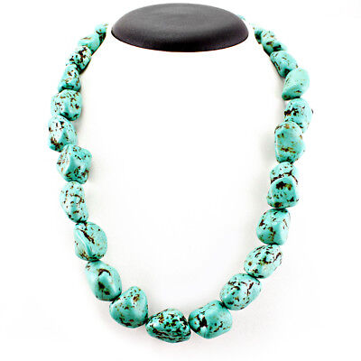 Buyers Most Favourite 580.00 Cts Natural Untreated Turquoise Beads Necklace