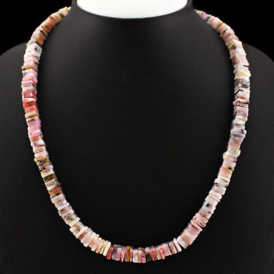 Best 265.00 Cts Natural Untreated Rich Pink Australian Opal Beads Necklace