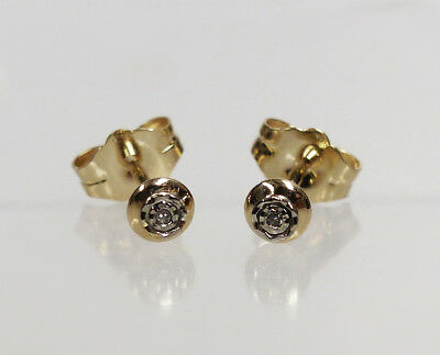 Ohrstecker 585/- Gold 8/8 Diamant 0,01 ct.