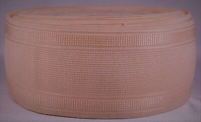 """1103g roll of 3"""" inch light pink woven elastic (dirty old stock & segmented)"""