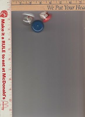 3 big boy coin machine prizes RING unopened 1 white / 1 red / blue bottoms