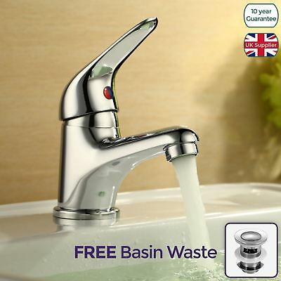 Calsava Chrome Brass Single Lever Bathroom Basin Sink Mono Mixer Tap With Waste