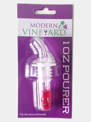 25 Pcs Modern Vineyard Wine Pourer Whisky Liquor Stopper Dispenser Spout - 1oz