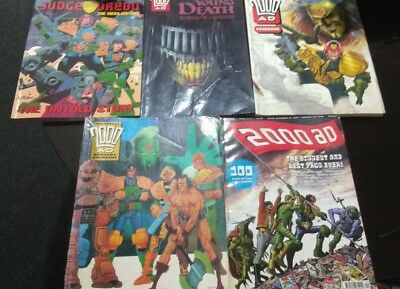 Judge Dredd 2000 ad Bundle Collection Mega-history Young Death Yearbook Best of