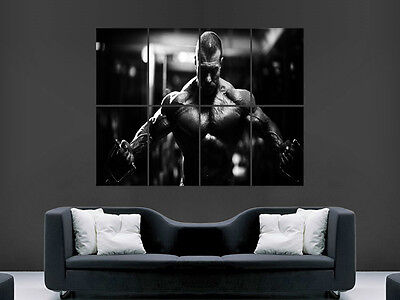 Bodybuilding Poster Gym Muscles Workout Fitness  Wall Art Picture Print
