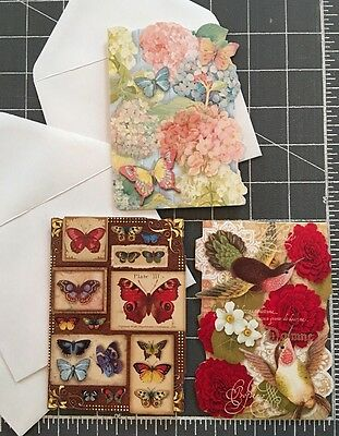 3 new blank punch studio note greeting cards envelopes 3 new blank punch studio note greeting cards envelopes butterflies flowers m4hsunfo