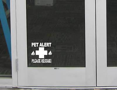 "Pet Alert fire Rescue Door Sign M128 6"" Sticker decal cat dog pet safety window"
