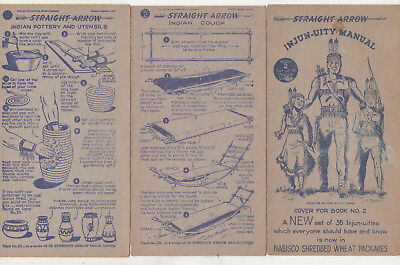 1950  Nabisco  Straight Arrow In-Jun-Uities Book 2 Lot Of 9 Diff With Cover