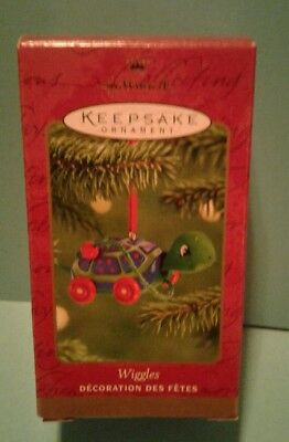 "Hallmark Christmas Ornament 2001 Wiggles Turtle ""wooden"" Pull Toy"