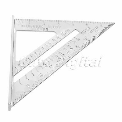 "7"" Metal Speed Square Triangle Angle Protractor Layout Guide Ruler Measure Tool"