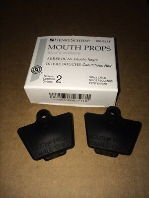 DENTAL MOUTH PROP BLACK BITE BLOCK RUBBER SMALL CHILD LATEX FREE 2/ BOX , Miltex