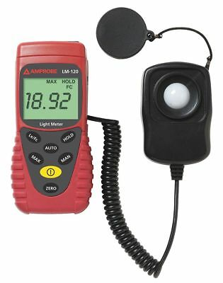 Amprobe Auto Ranging Light Meter, 0 to 20,000Fc - LM-120