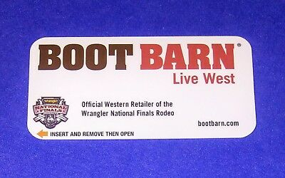 The Orleans Hotel Casino Las Vegas 'Boot Barn Live West'  Room Key Card