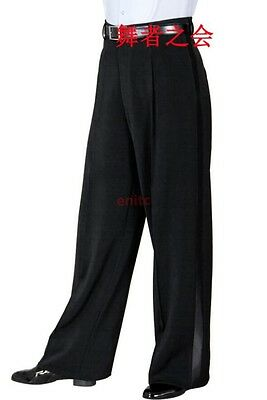 f16a6c721aea Adult Mens Ballroom Latin Salsa Modern Dance Pants Competition Practise  Trousers