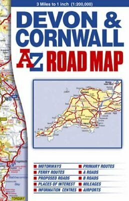 Devon & Cornwall Road Map by Geographers A-Z Map Company Sheet map, folded Book