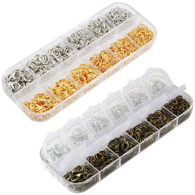 New Jewelry Finding Kit Lobster Clasp Jump Ring Bracelet Necklace Making 1124Pcs