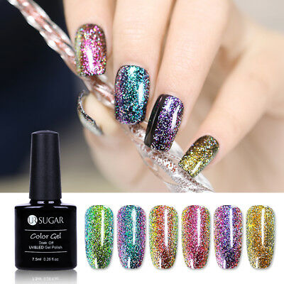 7.5ml Chameleon Soak Off UV Gel Nail Polish Holographic Glitter Varnish UR SUGAR