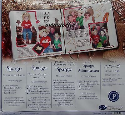 Creative Memories Spargo 7x7 Scrapbook Pages BNIP