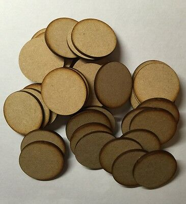 60mm Round wood Bases Laser Cut 3mm mdf thick wargames