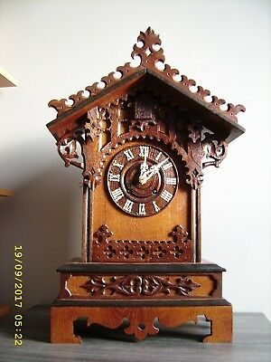 Large mantel cuckoo clock