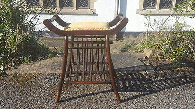Stunning Art Nouveau Antique Very Elegant Music/Piano Stool Canterbury Combined