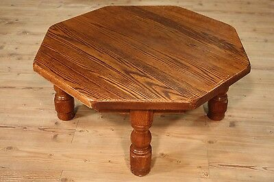 Table low living room furniture rustic wooden oak small table antique style 900