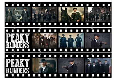 Edible Peaky Blinders Film Reel Strips Edible Icing Sheet Birthday Cake Toppers