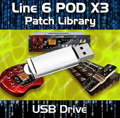 Line 6 Pod X3 Live Pro Pre-Programmed Tone Patches Download, Over 7500 Effects!