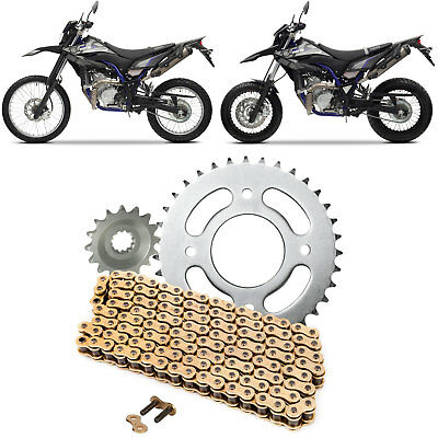 Yamaha WR 125 X R 2009-2016 Gold Chain and Sprocket Kit Set WR125X WR125R