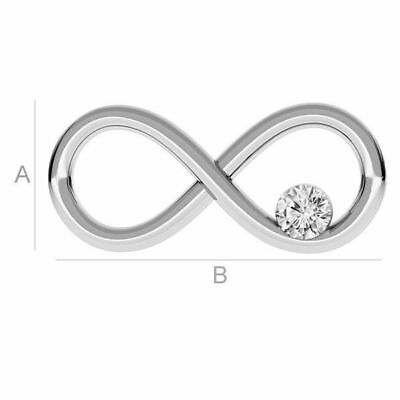 High Quality Sterling silver 925 Infinity sign with Swarovski crystal