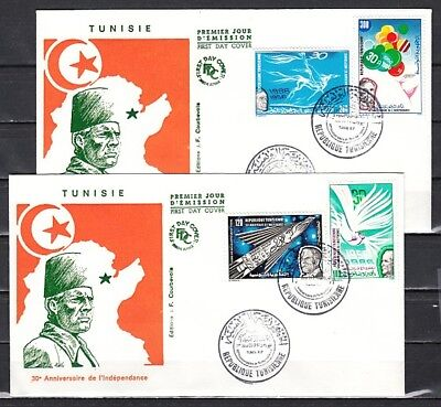 Tunisia, Scott cat. 882-885. National Independence issue. First Day Cover.