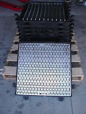 Watts Dead Level Trench Catch Basin Floor Main Drain Stainless Street Grate 24""