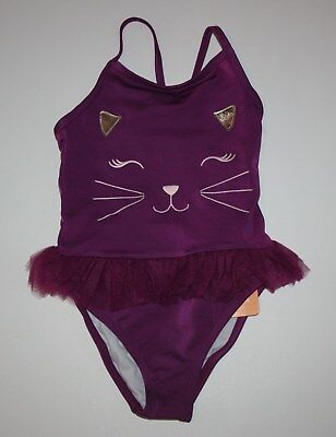 New Gymboree Cat Face One-Piece Swimsuit 4T NWT Bathing Suit Tails of the City