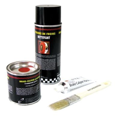 KIT Vernice alta temperatura pinze freno ROSSO DUPLI COLOR 889783 SPRAY PENNELLO