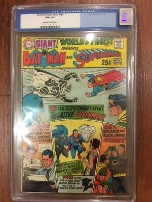 World's Finest Comics #188 Giant G64 Dc 10/11-69 Batman Superman Cgc 9.2
