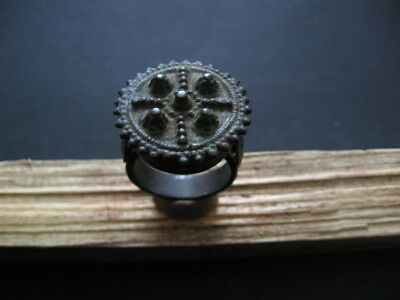 MEDIEVAL SERBIA EXTRA LARGE WEDDING FINGER RING 15 ct. A.D.