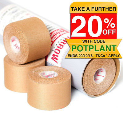 24 Rolls Premium Rigid Sports Strapping Tape 50mmx13.7m Athletic Muscle Support