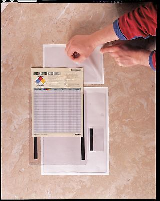 Baw Plastics Document Holder, Self Adhesive, 5X8In, PK50 - 28905-2