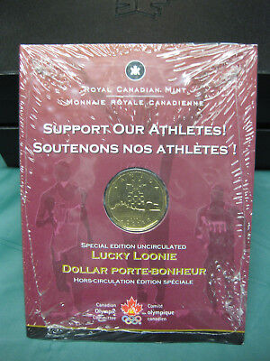 2004 $1 Lucky Loonie Canadian Dollar with Card **SEALED**