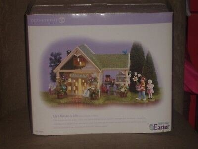 Dept 56 original snow village lilys nursery gifts 5655095 dept 56 easter lilys nursery gifts 3 pieces the original negle