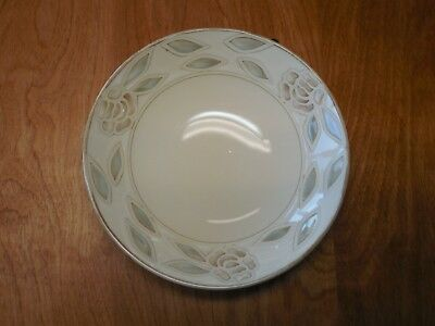"Pier 1 ABBY Soup Cereal Bowl 7 3/8"" Light Green Brown Embossed 1 ea  9 available"