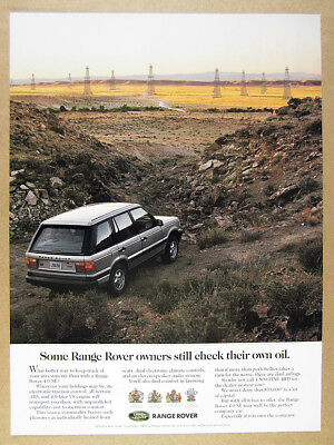 1995 Range Rover 4.0 SE oil field derricks photo vintage print Ad