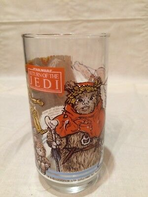 VINTAGE! 1983 Burger King Star Wars-Return of the Jedi Glass-Ewok Village