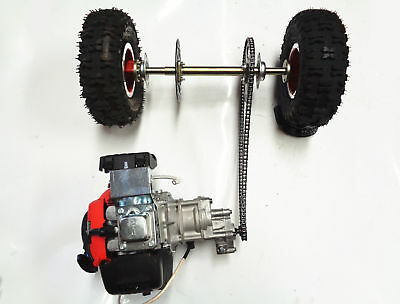 50cc 4 Stroke Electric Start Pull Start Engine And 520mm  Mini Axle Wheels Kit