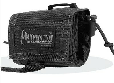 Maxpedition Rolly Poly 0208B Black Waist Dump Pouch Roll Out Compact Storage Bag