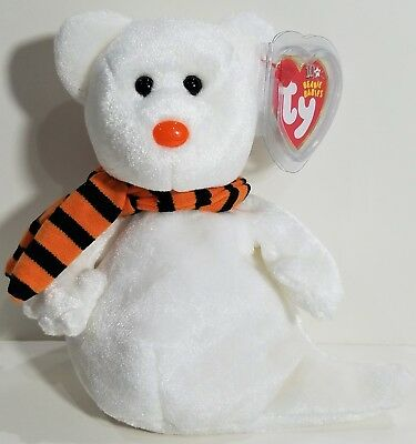 """TY Beanie Babies """"QUIVERS"""" HALLOWEEN GHOST Teddy Bear MWMTs! RETIRED! GREAT GIFT"""