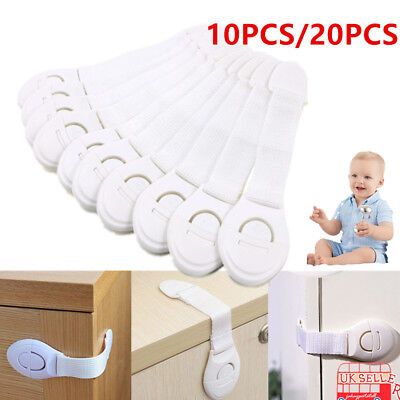 20x Kids Child Baby Proofing Safety Lock Door Fridge Cupboard Cabinet Drawer Pet