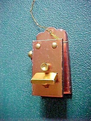 Vintage Brass Christmas Ornament   OLD TIME TELEPHONE